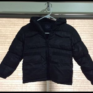 Boys Faded Glory Camo Winter Hooded Coat Size 4/5
